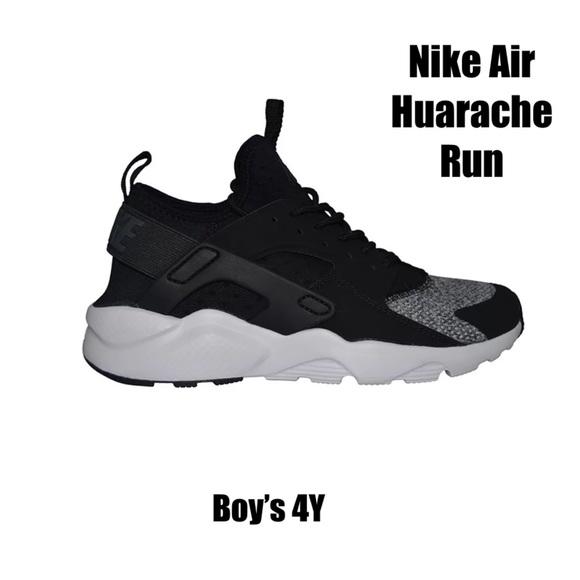 new products c1001 eaaf9 Boy s 4Y Nike Air Huarache Run Ultra SE Gray Black